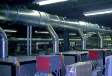 Clamp together duct system with Nitrile oil-mist seals, conveying oil and cutting fluid mist.